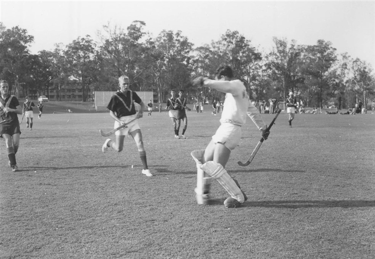 hockey match at the uni 1962